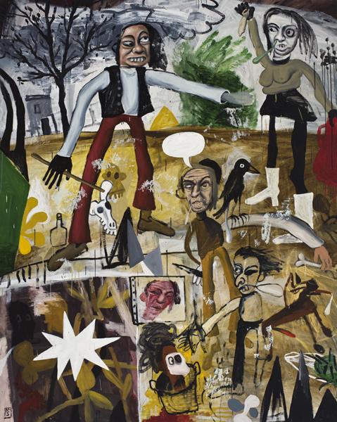 057.Matias Sanchez.«Chronica de una familia de clase media baja» (2006) huile sur toile (250cm x 200cm)