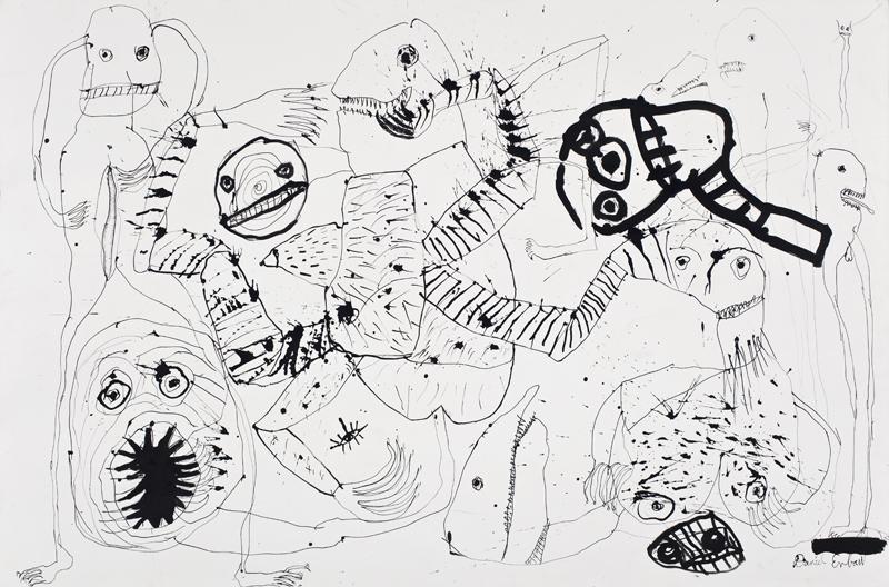 08.Daniel Erban «I know what you were doing last night» (2009) encre sur carton (102cm x 152cm)